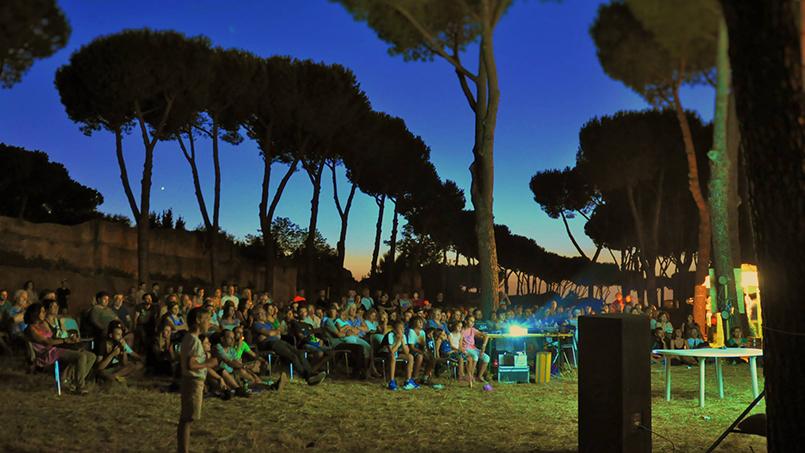 Open Air Cinema in the Aqueduct Park
