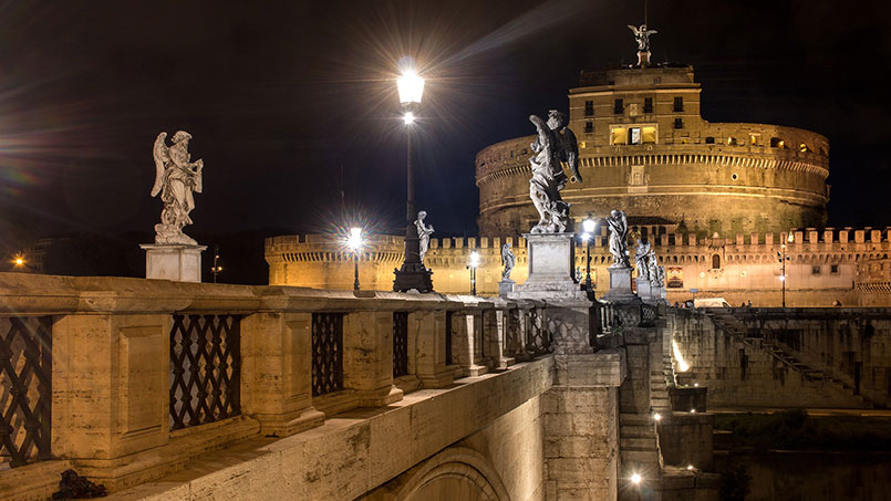 Castel Sant'Angelo restaurants Christmas Rome