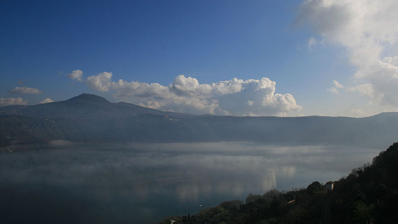 Lake Albano in the fall