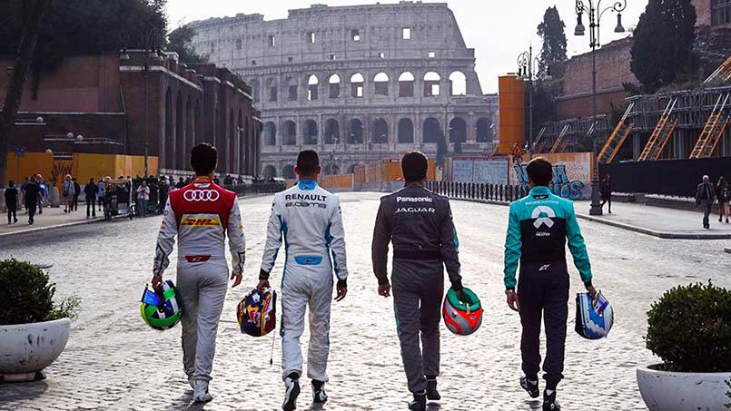 Formula E race cars return to Rome in April!
