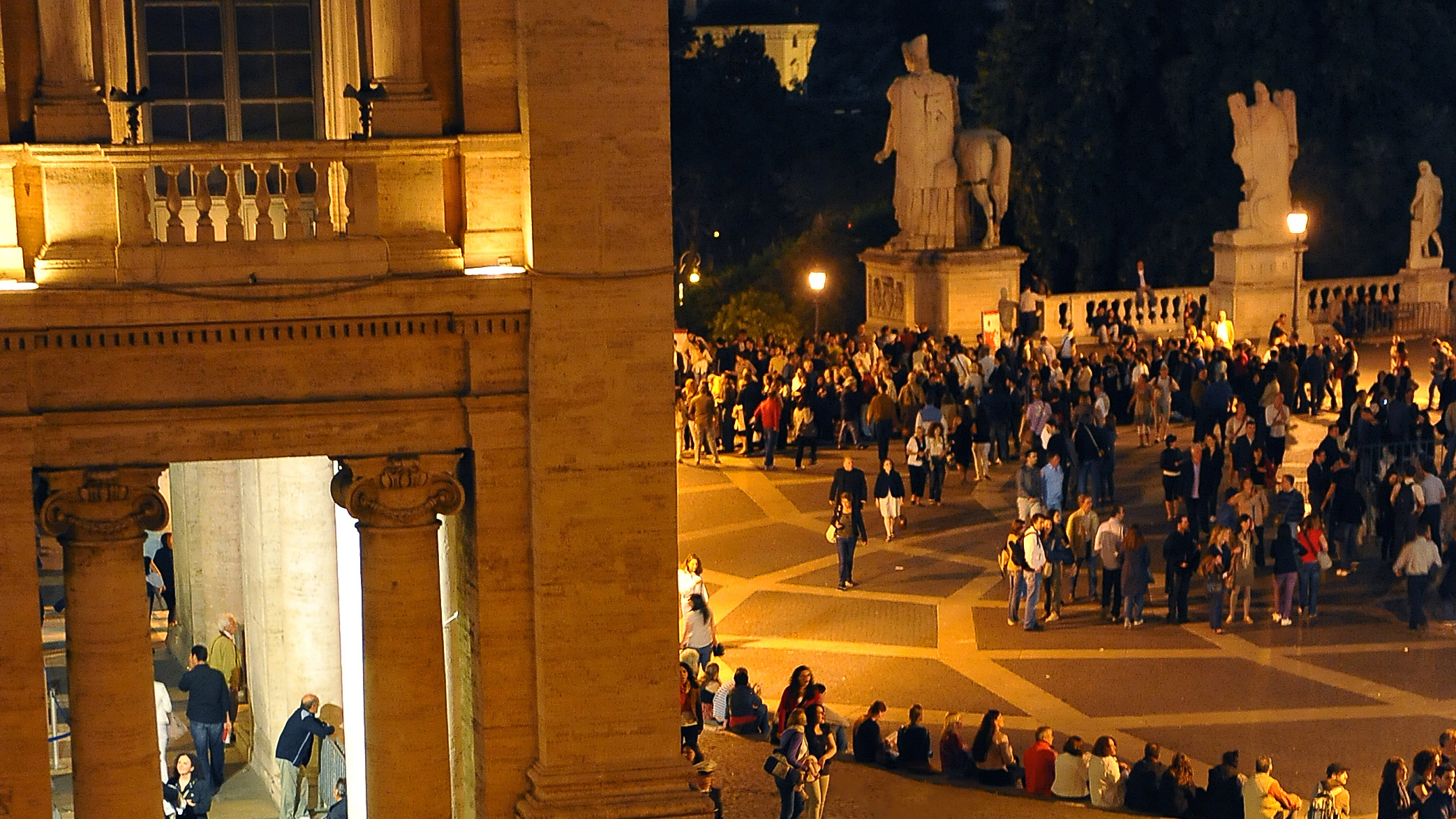 Capitoline Museums at night Rome summer