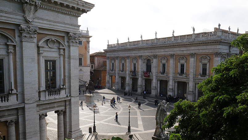 The Capitoline Hill and Museums in Rome