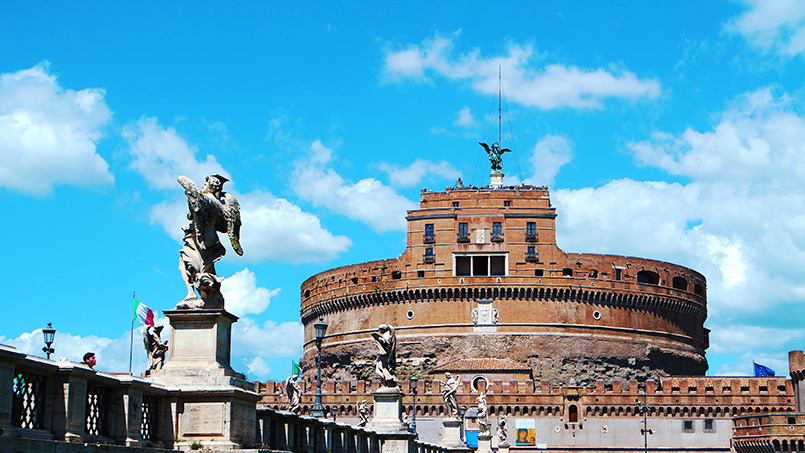 Castel Sant'Angelo Rome Italy view from across the river