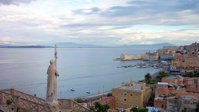Gaeta Italy the port seen from St. Francis church