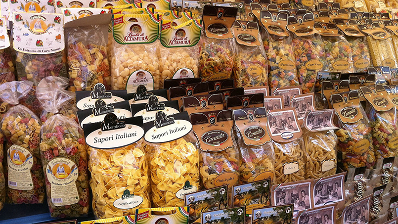 Boxes of Pasta Rome Italy