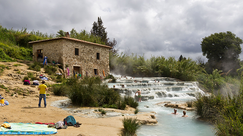 Saturnia hot baths day trip from Rome