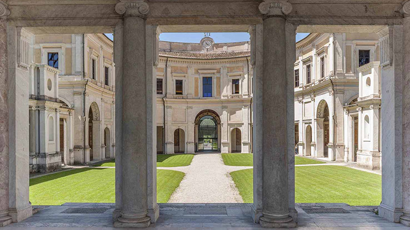 Villa Giulia Porticus of the ETRU Museum in Rome Italy