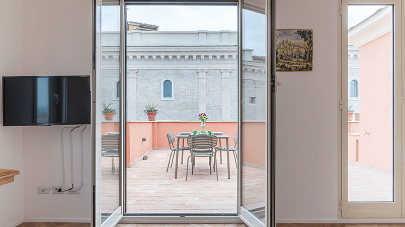 Pellegrino 11 studio Rome Italy rental managed by From Home to Rome