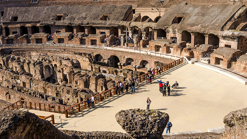 Colosseum Hypogeum renovation works From Home to Rome rental agency holiday homes