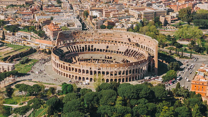 Colosseum and Roman Forum new excavations and findings restoration works From Home to Rome